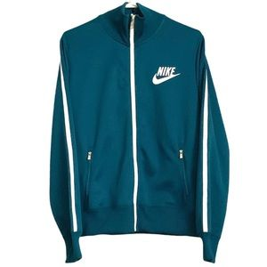 Nike HBR Track Jacket - Teal Green / White